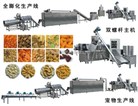 TSETSE型号双螺杆麦烧休闲食品膨化设备生产线