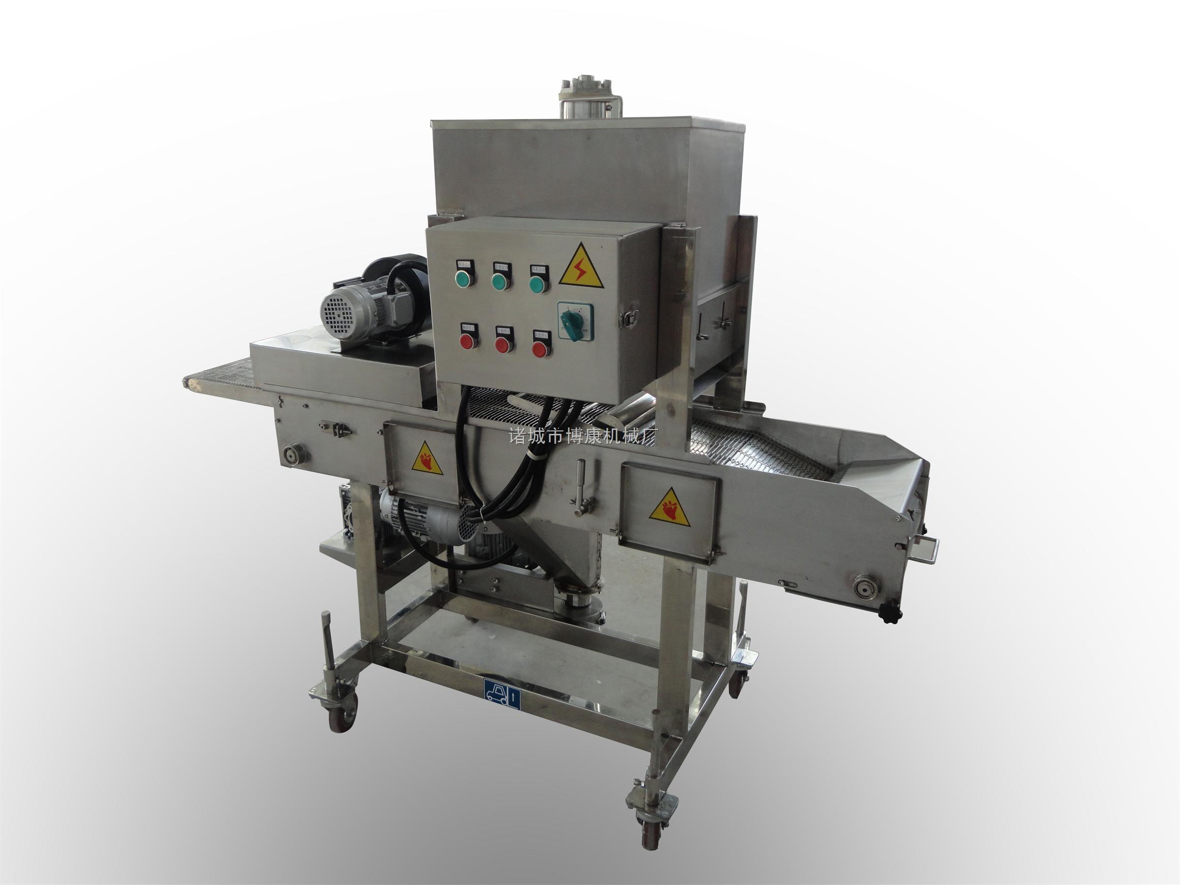 供应芙蓉虾专用上屑机|面包虾裹糠机|裹糠机价格|裹糠机专业生产制造商