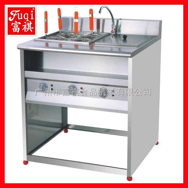 富祺商用立式电热四格煮面机连带汤池