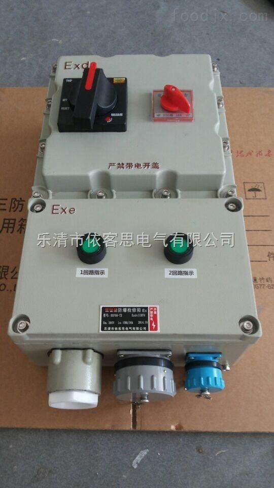订做BXX51-T7K防爆动力检修箱/铸铝外壳/施耐德元件