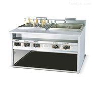 GH-1276-煮面炉商用立式燃气煮面机带汤盆1276煤气麻辣烫机器6孔下面炉6+2