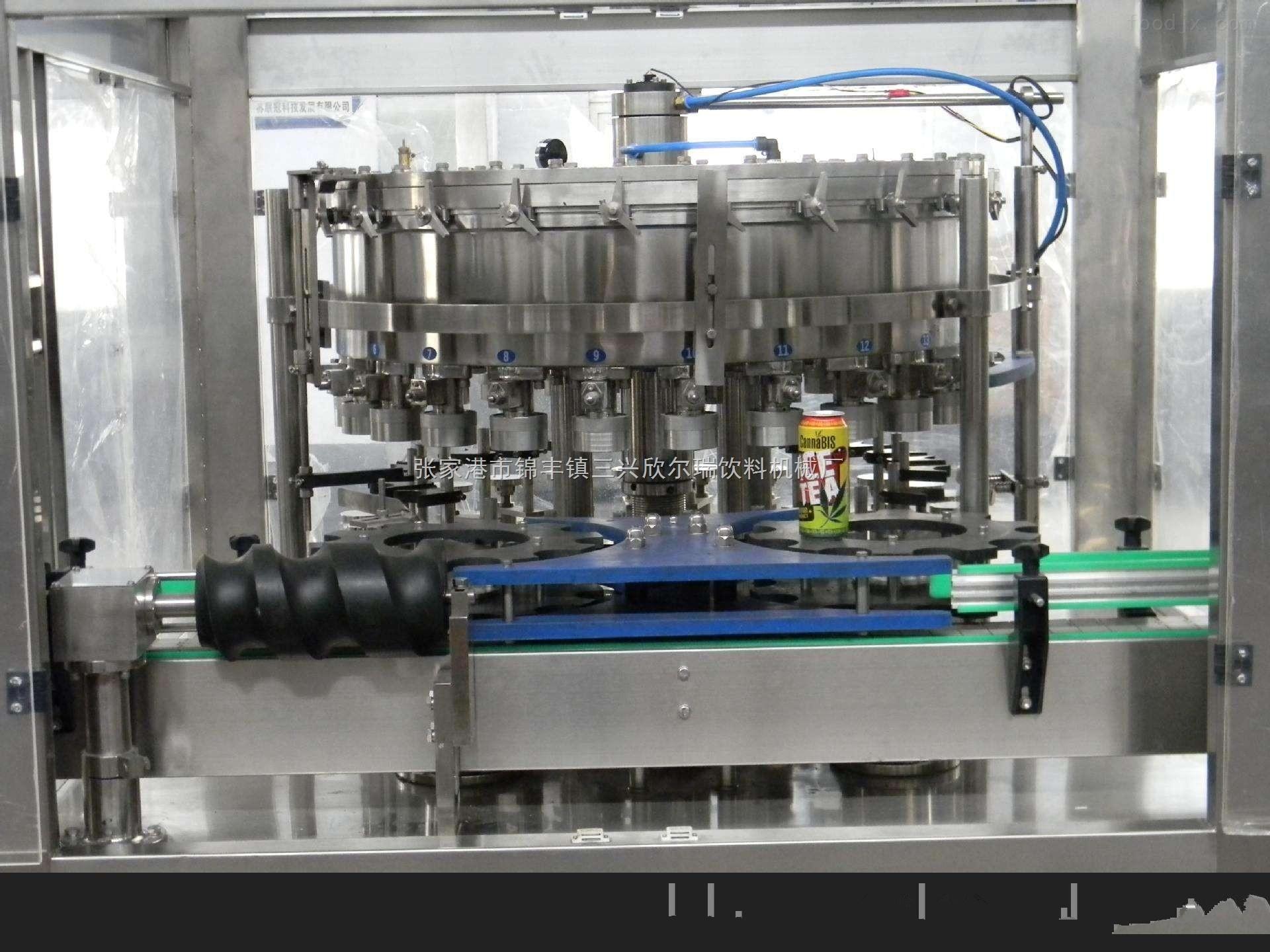 厂家直销易拉罐含气饮料灌装机