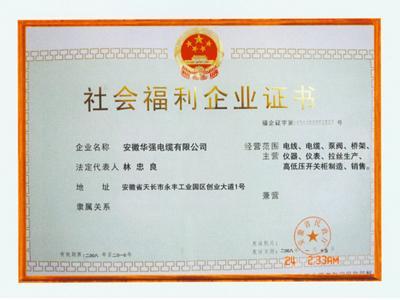 社會福利企業證書