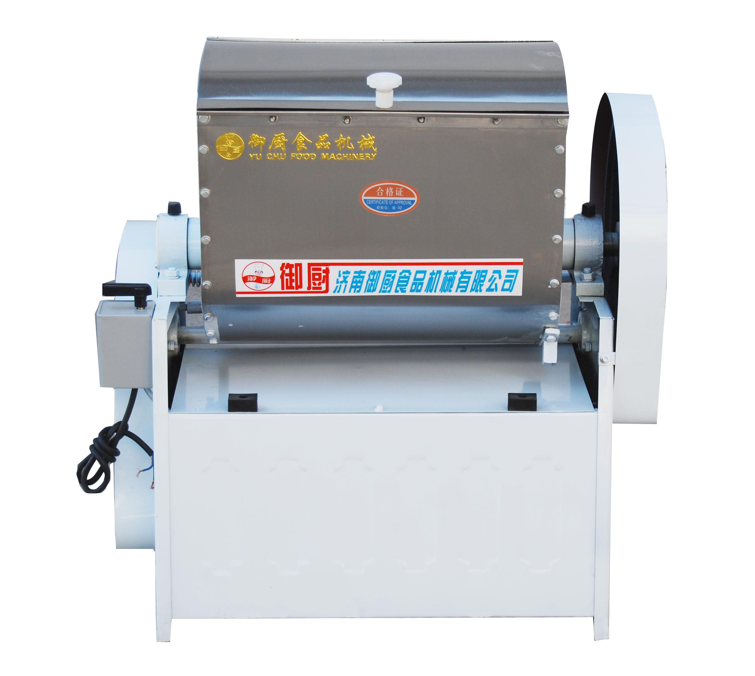 HWT25和面机 材质:内胆钢 一次和面量25kg (一袋面) 电压220v/380v 功率:2.2kw HWT25III型和面机: 和面机是面食加工的主要设备,它主要用于将小麦粉与水按1:0.38-0.45的比例,根据用户加工工艺要求(有时加石油,食糖及其他食物和食品添加剂)混合制成面团,广泛适用于食堂,饭店及面食加工单位的面食加工,是替代手工,降低劳动强度,满足人民饮食卫生要求的理想设备,也可用于其他同类物料的搅拌和混合. 供应 脚踩式翻斗不锈钢和面机揉面机面粉搅拌机设备 厂家直销HWY50 和面机是